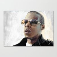 jay z Canvas Prints featuring Jay-Z by Thomas Bryant