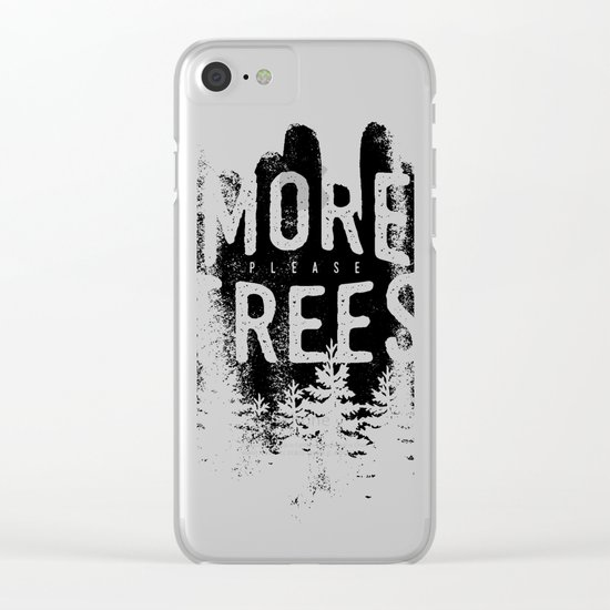 More trees Clear iPhone Case