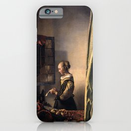 Johannes Vermeer - Girl Reading a Letter at an Open Window iPhone Case