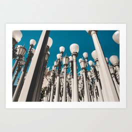 City of lights Art Print
