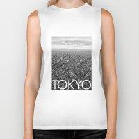 tokyo Biker Tanks featuring TOKYO by Rothko