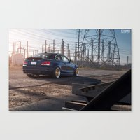 bmw Canvas Prints featuring BMW 135i by 1013MM