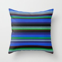 Colored Lines - Blue Throw Pillow