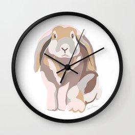 Lop Eared Bunny Named Cuteness Wall Clock