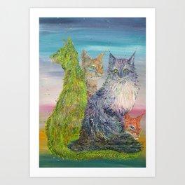 FOUR CATS Art Print