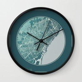 Barcelona Map Planet Wall Clock