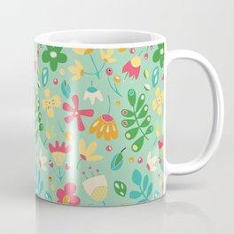Green floral pattern Coffee Mug