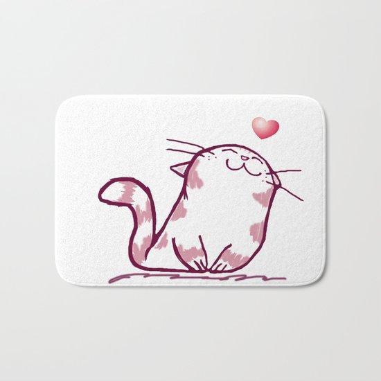 Kitty Love Bath Mat