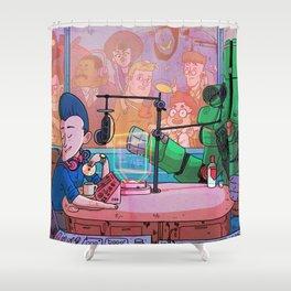 Radio LOCCENT Shower Curtain