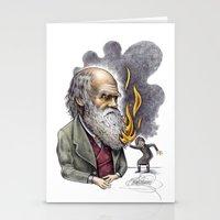 darwin Stationery Cards featuring Darwin by ElenaTerrin