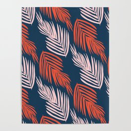 Blue Palms Poster