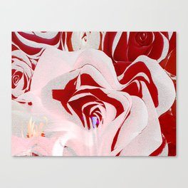 Unwild Me (Rose Abstract I) Canvas Print