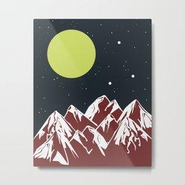 galactic mountains Metal Print