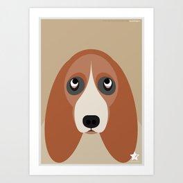 Basset Art Print