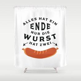 German Sausage Oktoberfest Shower Curtain