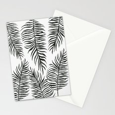 Black Fern Pattern Stationery Cards