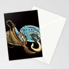 Abalone with Historic Maori Fishing Hooks Stationery Cards