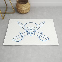 Skull and Cutlasses In Outline Rug