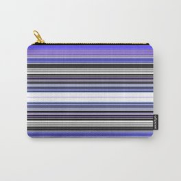 Bright bold Blue And Purple Stripe Carry-All Pouch
