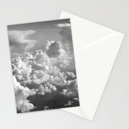 Light Dancing through Soft Clouds - Black and White Stationery Cards