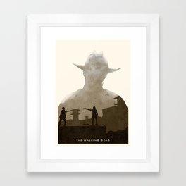 The Walking Dead (II) Framed Art Print