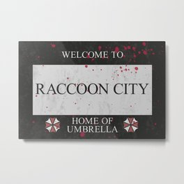 Resident Evil Welcome to Raccoon City Sign Metal Print