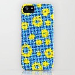 Retro Geometric Pattern - Colorful Half-tone iPhone Case