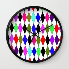 A Harlequin Weird-Darker Palette Wall Clock