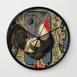 Provencal cock Wall Clock