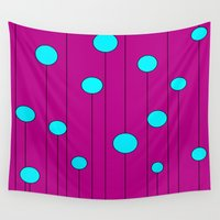balloons Wall Tapestries featuring Balloons  by JuniqueStudio