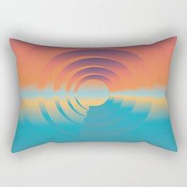 water and horizon Rectangular Pillow
