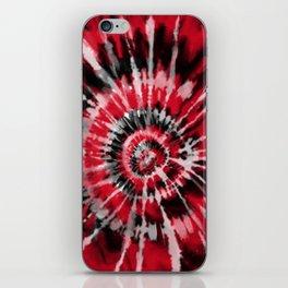 Red Tie Dye iPhone Skin