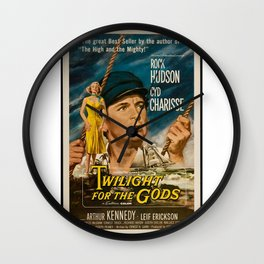 Vintage Classic Movie Posters, Twilight For The Gods Wall Clock