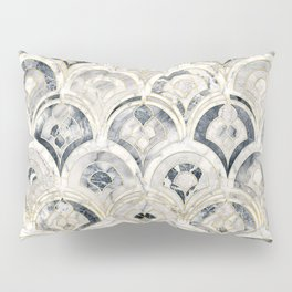 Monochrome Art Deco Marble Tiles Pillow Sham
