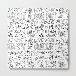 Basketball. Go! Metal Print