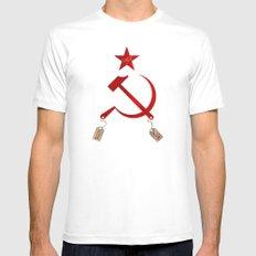 Communism vs. Capitalism Mens Fitted Tee White MEDIUM