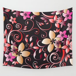 Flowers wall paper 6 Wall Tapestry