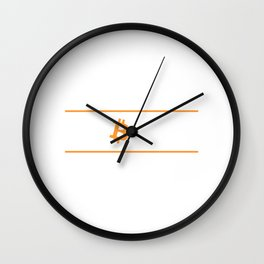 HODL Hold On For Dear Life Bitcoin Cryptocurrency Wall Clock
