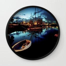 reflections at dawn Wall Clock