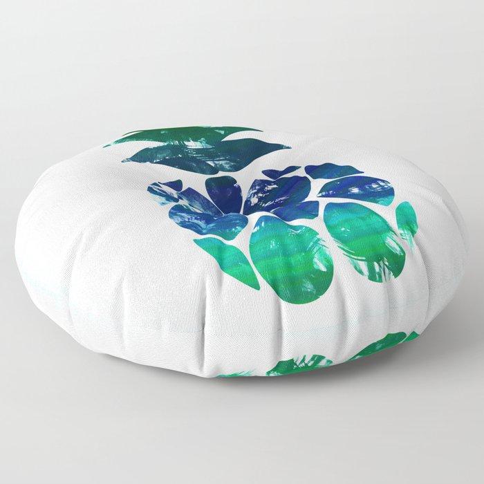 Watercolor pineapple Floor Pillow