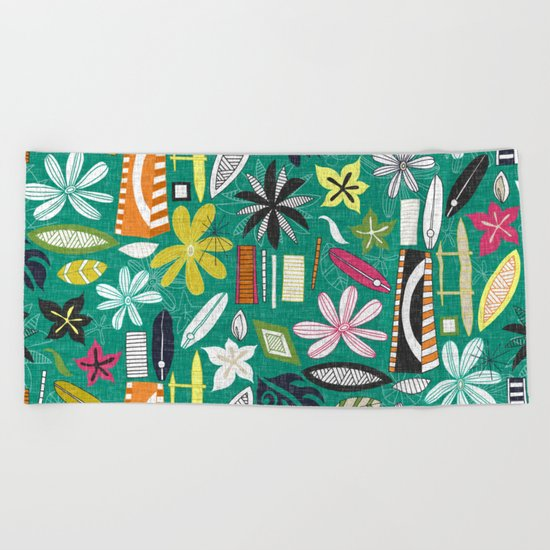 beachy jade Beach Towel
