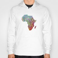 africa Hoodies featuring Africa by mthbt