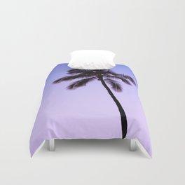 palm tree ver.violet Duvet Cover