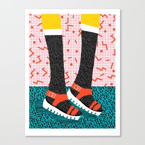 Kicks - throwback retro vintage 1980 1980's 80s 80's memphis bright neon colorful urban chic hipster Canvas Print