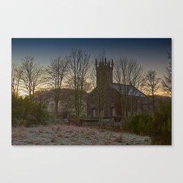 Clunie Church at Dawn Canvas Print