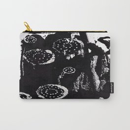 Black and White Abstract 2 Carry-All Pouch