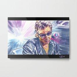 """Jurassic Park : Jeff Goldblum/Ian Malcom : """"Chaotician 3 / 4"""" Metal Print"""