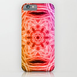 Vibrant rainbow kaleidoscopes iPhone Case
