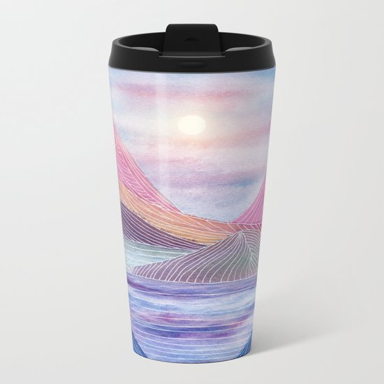 Lines in the mountains XVII Metal Travel Mug
