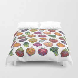 Vitamins - white Duvet Cover